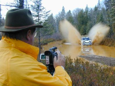 Shooting video at the Lake Superior ProRally.